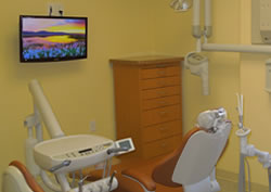 LCD TV monitors in dentist's office