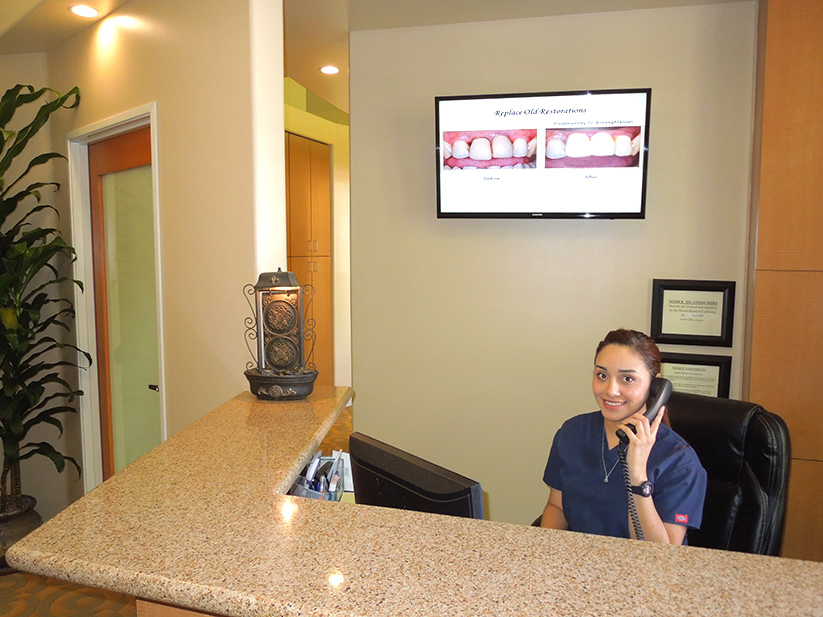 Dental Reception Area Pasadena